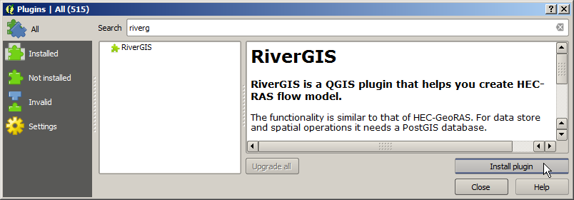 Requirements — RiverGIS 1 0 documentation